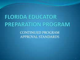 Program Approval Presentation