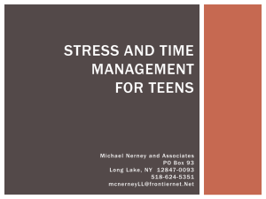 Stress and Time Management for Teens