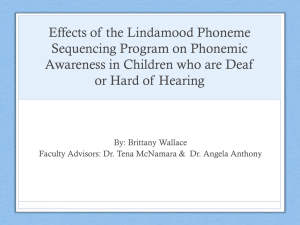 Effects of the Lindamood Phoneme Sequencing Program on