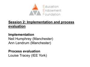 Session 2 - Implementation and process evaluation