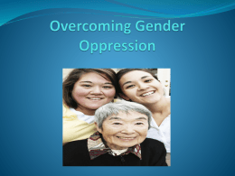 Overcoming Gender Oppression