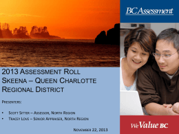 Property Assessment - Skeena - Queen Charlotte Regional District