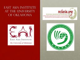 Chinese Education - East Asia Institute | The University of Oklahoma