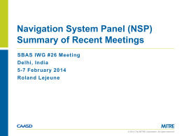 IWG26_NSP_summary_Feb2014 - Air Navigation Services