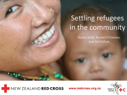 Settling refugees in the community