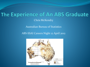 Slides – Chris McKendry - The Statistical Society of Australia