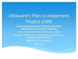 View this presentation. - National Association of State Mental Health