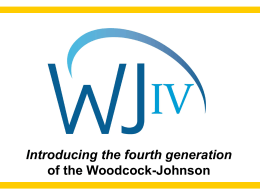 WCPA`s School Division Power Point Presentation on WJ-IV