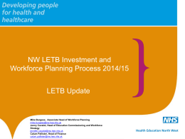 Item 8: 2014 Workforce and Investment Plans