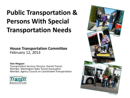 Public Transportation - Washington State Transit Association
