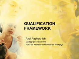 MIDWIFERY EDUCATION QUALIFICATION FRAMEWORK