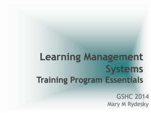 LMS - Transition Management