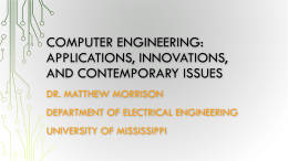 Computer Engineering: Applications, Innovations, and - UNO-EF