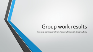 What is interesting for your organisation? Group work