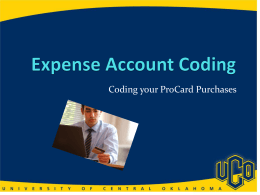 ProCard Coding - University of Central Oklahoma