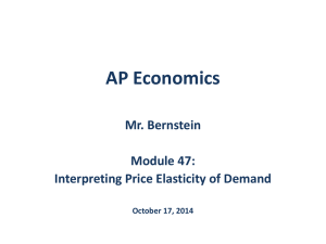Module 47 - Interpreting Price Elasticity of Demand