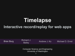 Timelapse Interactive record/replay for the web