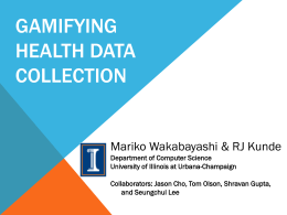 Gamifying Health Data Collection