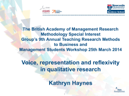 Kathyrn Haynes slides - British Academy of Management