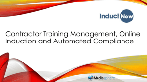 InductNow Contractor Management System
