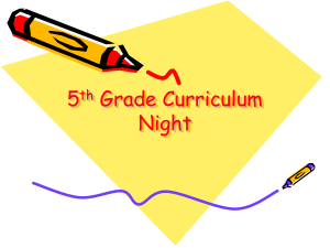 5th Grade Curriculum Night.ppt