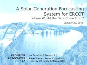 6. Solar Gen Forecasting for ERCOT (Frontier)