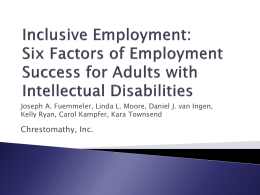 Inclusive Employment