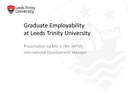 Graduate Employability at Leeds Trinity University