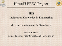 Hawai*i PEEC Project