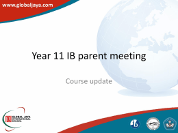 Year 11 IB parent meet 2012