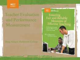 Teacher Evaluation and Performance Measurement, Educational