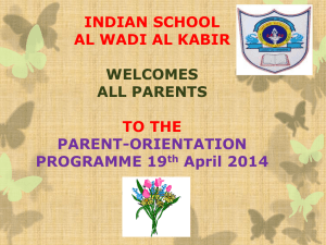 Class - VI to X - Indian School Al Wadi Al kabir