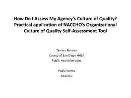 How Do I Assess my Organization`s Culture of Quality?