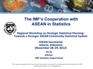 The IMF`s Cooperation with ASEAN in Statistics