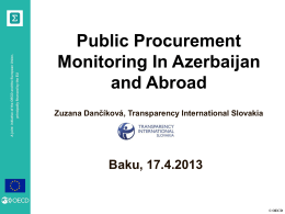 Opening Public Procurement in Slovakia