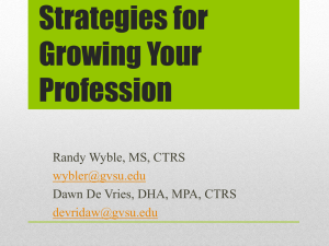Strategies for Growing Your Profession