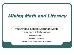 Mixing math and literacy presentation