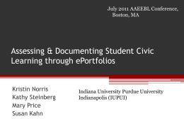 Assessing and Documenting Student Civic Learning