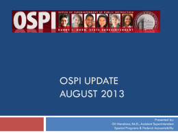 OSPI Update - Educational Service District 113