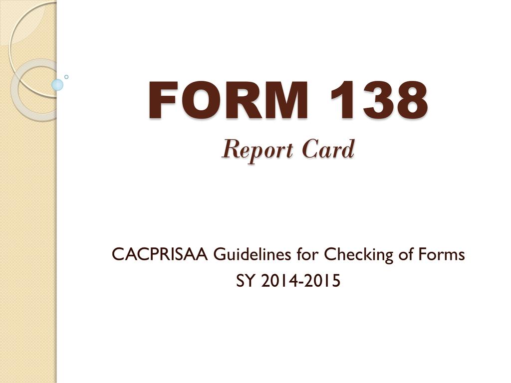 Form 138 Template 2015 2016 D47e2q810dn2
