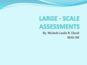 Large Scale Tests