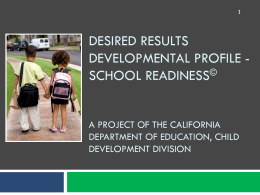 DRDP-SR - Preschool California