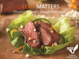 Lean Beef - BeefResearch.org