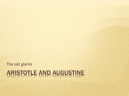 Aristotle and Augustine - Physics at Oregon State University