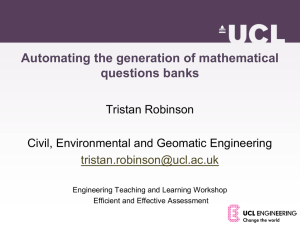 Generating a question bank in Moodle