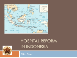 Hospital Reform in Indonesia