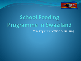 School Feeding Programme in Swaziland
