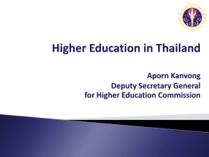 higher education in thailand - Office of Science and Technology