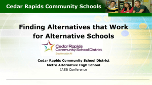 Cedar Rapids Community Schools - Iowa Association of School