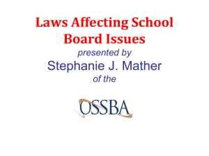 2014 Laws Affecting School Boards